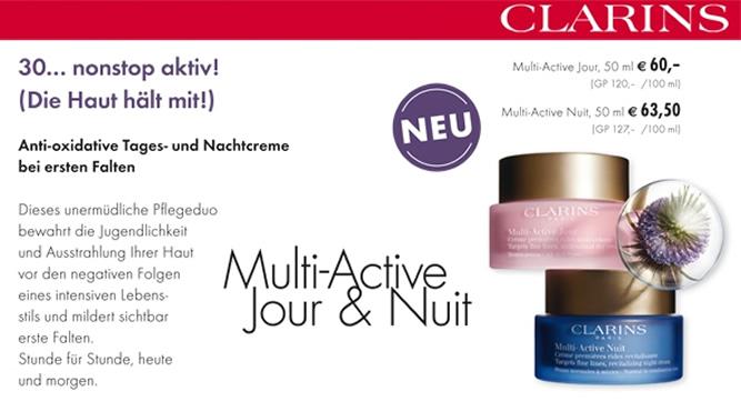 Clarins - Multi-Active Jour & Nuit (Beauty-Wochen 2016)