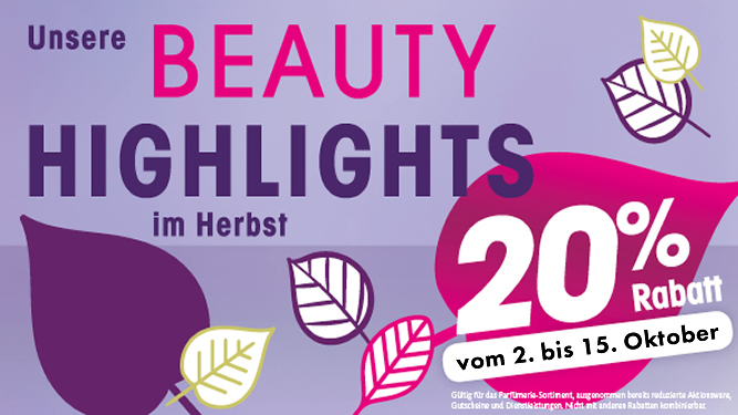 Beauty Highlights im Herbst 2016
