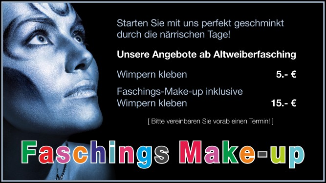 Faschings Make-up & Wimpern kleben