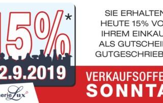 Verkaufsoffener Sonntag 22.9.2019