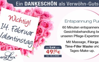 Valentinstag Gesichtsbehandlung